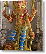 Hindu Goddess Durga On Lion Metal Print