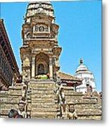 Hindu Temples In Bhaktapur Durbar Square In Bhaktapur-nepal Metal Print