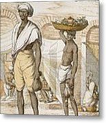Hindu Valet Or Buyer Of Food, From The Metal Print