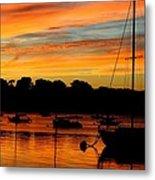 Hingham Sunset And Sailboats Metal Print
