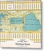 Hinrichs Guide To Central Park 1875 Metal Print