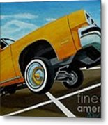 Hip Hoppin Chevy Metal Print