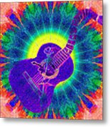 Hippie Guitar Metal Print