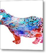 Hippo 3 Metal Print
