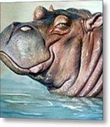 Hippo Lisa Metal Print