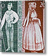 His And Hers Traditional Costumes Metal Print