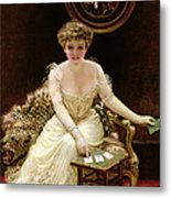 His Fortune Metal Print by English School