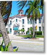 Historic And Beautiful Crest Theatre In Delray Beach. Florida. Metal Print