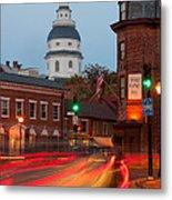 Historic Annapolis And Evening Traffic I Metal Print