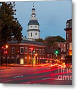 Historic Annapolis And Evening Traffic II Metal Print