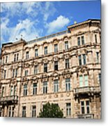 Historic Apartment House In Budapest Metal Print