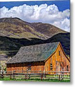 Historic Barn - Wasatch Front Metal Print