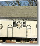 Historic Barn With Hex Signs In Pennsylvania Metal Print by Anna Lisa Yoder