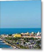 Historic Cartagena And Sea Metal Print