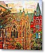 Historic Churches St Louis Mo - Digital Effect 6 Metal Print