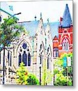 Historic Churches St Louis Mo - Digital Effect 7 Metal Print