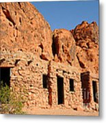 Historic Civilian Conservation Corps Stone Cabins In The Valley Of Fire Metal Print