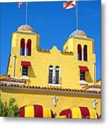 Historic Colony Hotel Twin Towers. Delray Beach Florida. Metal Print