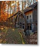 Historic Grist Mill With Fall Foliage Metal Print