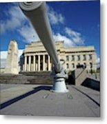Historic Gun And Auckland War Memorial Metal Print