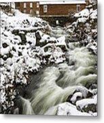 Historic Harrisville Nh In Winter Metal Print