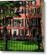 Historic Homes Of Beacon Hill, Boston Metal Print