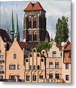 Historic Houses In Gdansk Metal Print