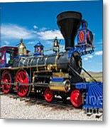 Historic Jupiter Steam Locomotive - Promontory Point Metal Print by Gary Whitton