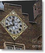 Historic London Clock Metal Print