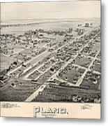 Historic Map Of Plano Texas 1891 Metal Print