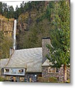 Historic Multnomah Falls Lodge Metal Print