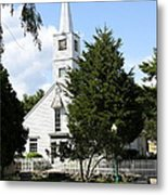 Historic Mystic Church - Connecticut Metal Print