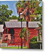 Historic Pensacola With Added Color Metal Print
