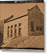Historic Power Sepia Metal Print