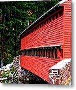 Historic Sach's Covered Bridge Metal Print