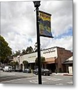 Historic Saratoga Village Metal Print