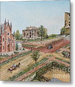 Historic Street - Lawrence Kansas Metal Print by Mary Ellen Anderson