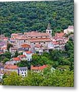 Historic Town Of Bakar In Green Forest Metal Print