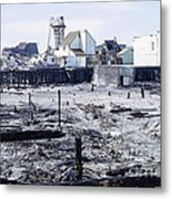 Historic Venice Pier In California Burned Down Over 40 Years Ago - Home To Lawrence Welk's Tv Show. Metal Print