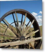 Historic Waterwheel, Young Australian Metal Print