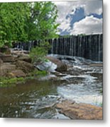 Historic Yates Mill Dam - Raleigh N C Metal Print