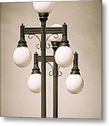 Historic Ybor Lamp Posts Metal Print