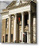 Historical Athens Alabama Courthouse Christmas Metal Print