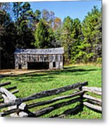 Historical Cantilever Barn At Cades Cove Tennessee Metal Print by Kathy Clark