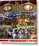 Historical Carousel In Tennessee Metal Print