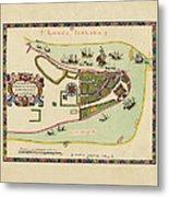 Historical Map Of Manhattan 1661 Metal Print