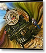Historical Niles Southern Pacific 2472 Steam Engine 1921  Metal Print