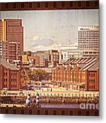 Historical Red Brick Warehouses Metal Print
