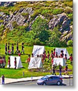 Historical Reenactment Near Visitor's Center In Signal Hill National Historic Site In St. John's-nl Metal Print