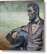 History - Abraham Lincoln Contemplates -  Luther Fine Art Metal Print